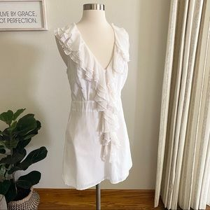 YOUNG FABULOUS & BROKE Ruffle Silk Dress M